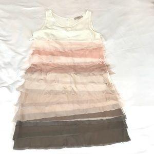 LOFT ANN TAYLOR OMBRÉ DRESS SZ 10